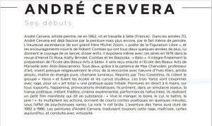 Galerie Teodora  Exposition André Cervera  « Le chant des souvenirs » 06/03 au 14/04/2021