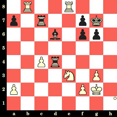 Les Blancs jouent et matent en 4 coups - Vlastimil Hort vs Milenko Sibarevic, Banja Luka, 1976