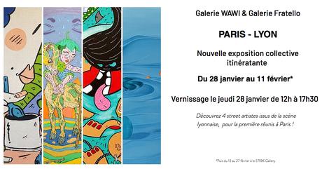 Exposition collective « Paris-Lyon » Bouda, Miette, Yandy et Lilitotas