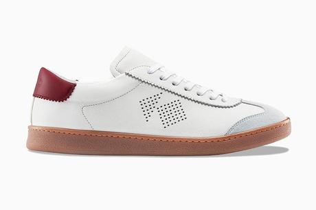 Koio tempo ivory leather tennis men sneakers - Luxe Digital