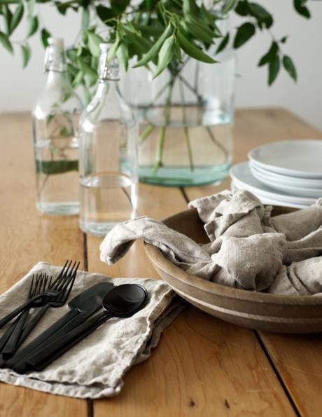 art de la table décoration intérieur slow life hygge cuisine couvert danois noir mat