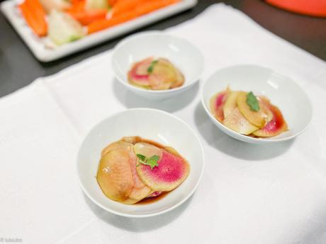 Sauce ponzu – Salade japonaise de chou-rave et radis red meat