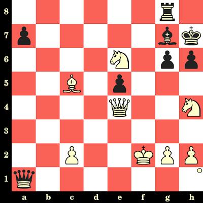 Les Blancs jouent et matent en 4 coups - Leonid Shamkovich vs Larry Chistiansen, Mentor, 1977
