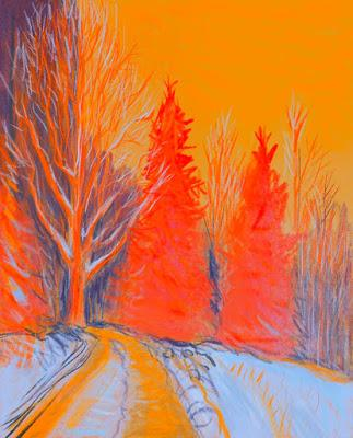 Dessin sur la Route, Mercredi Mandarine, Drive by Drawing.
