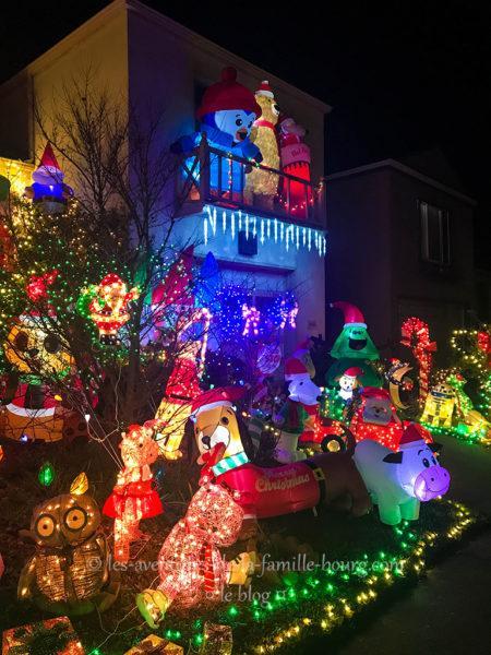 Des maisons décorées pour Noël à San Francisco
