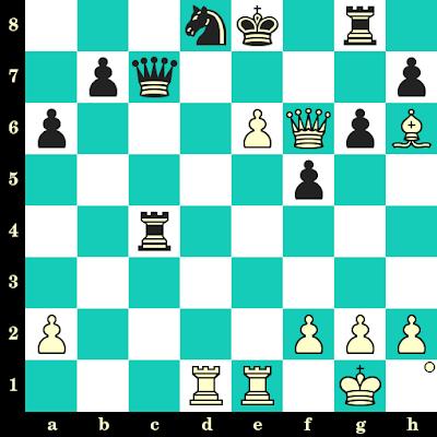 Les Blancs jouent et matent en 2 coups - Vladimir Potkin vs Aleksandra Dimitrijevic, Internet, 2004
