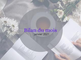 Bilan du mois - Janvier 2021