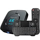 Box TV Android 10.0 4 Go RAM 64 Go ROM Smart TV Box Allwinner H616 1080P Ultra HD 4K 6K HDR WiFi 2.4G 5.8GHz BT 4.1 Android TV Box avec mini clavier sans fil rétro éclairé