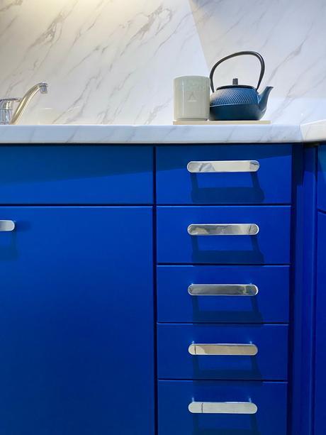 blue kitchen superfront long mini circus handles
