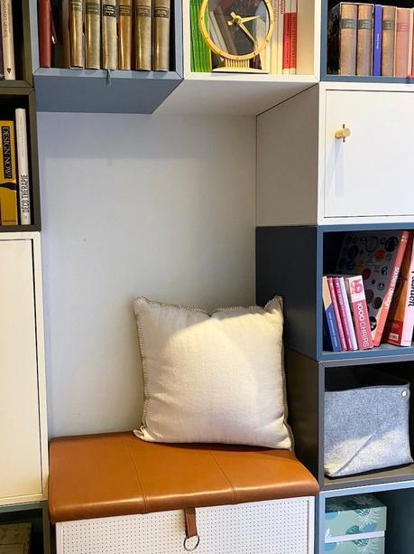 ikea eket sur-mesure bibliothèque case grise bleu