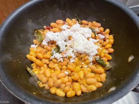Prière indienne – Sundal de haricots blancs