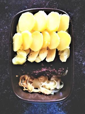 Dauphinois de boudin aux deux pommes
