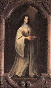 Sainte Ombeline, tableau du peintre salinois Adrien Richard