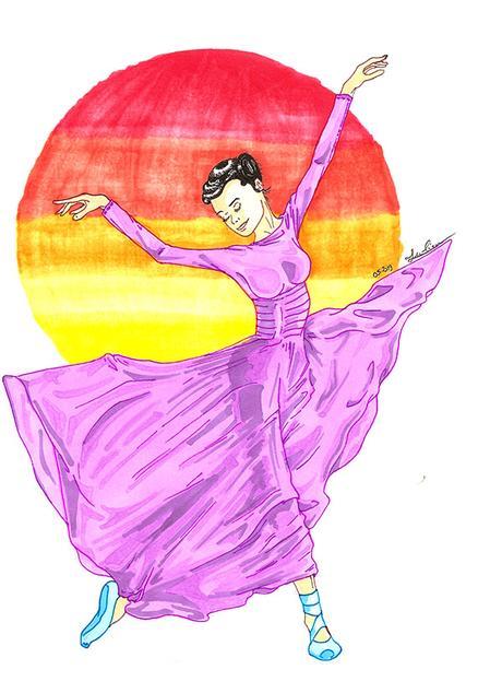 La danseuse colorée