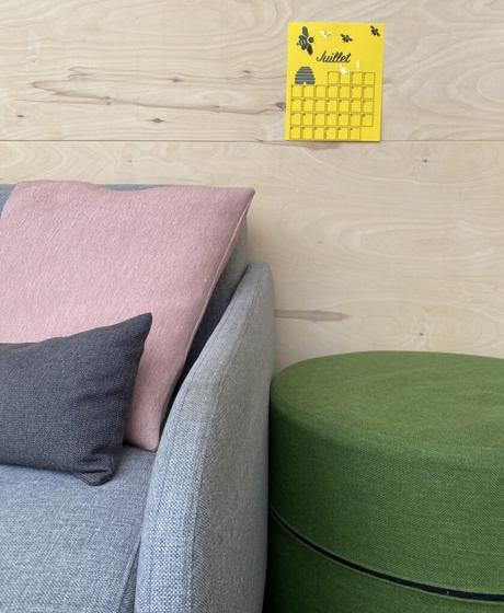 décoration salon couleur pastel mur bois