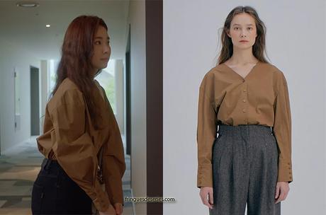 RUN ON : Oh Mi-joo's brown shirt in S1E01
