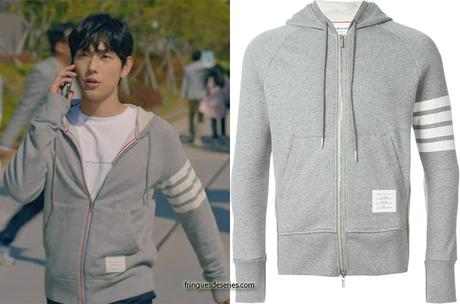 RUN ON : Ki Seon-gyeom's grey hoodie in S1E01