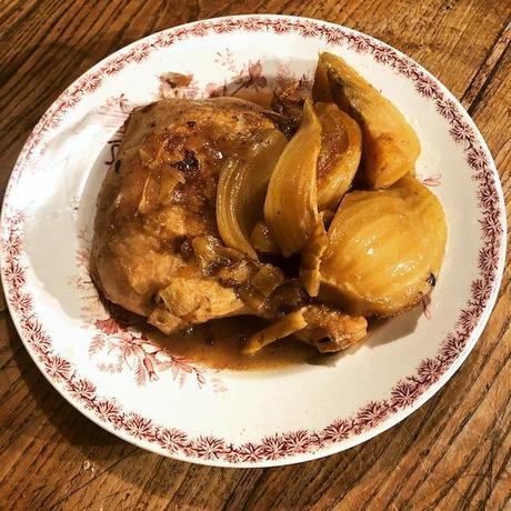 cuisses de poulet mijotées au Ricard et fenouil (Pastis)