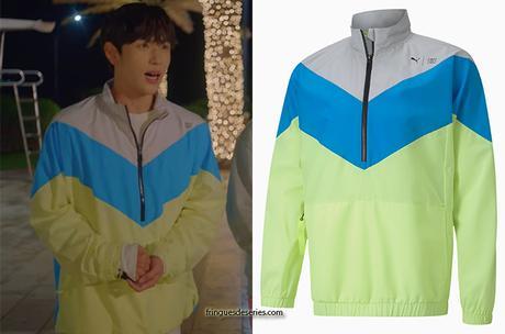 RUN ON :  Ki Seon-Gyeom's colored track jacket in S1E03