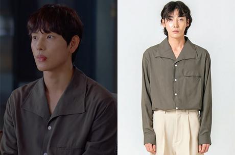 Run On : Ki Seon-Gyeom's charcoal shirt in S1E02