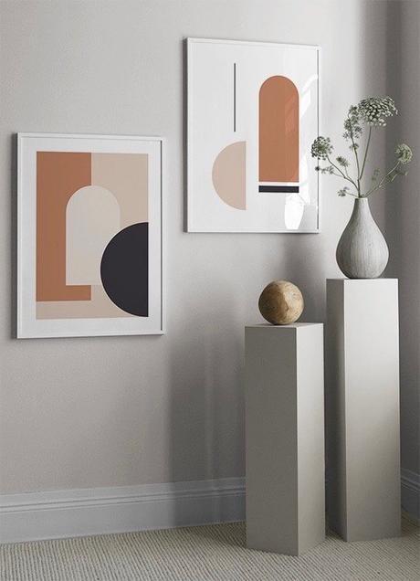 entrée comme musée affiche vase céramique