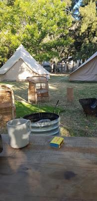 retour au camping