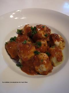 Boulettes de cabillaud à la sauce tomate