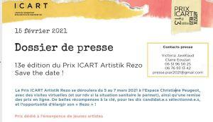 Prix ICART Artistik Rezo Mars 2021 Espace Christiane Peugeot –