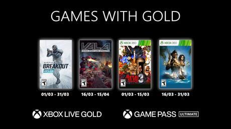 Les Games With Gold de Mars 2021 dévoilés!