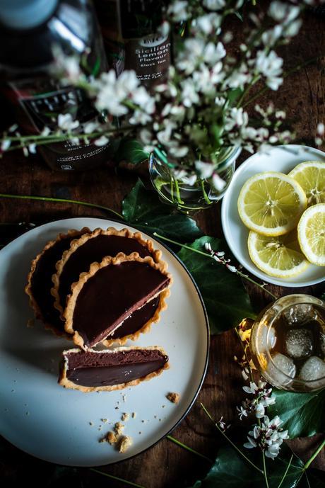 Tartelettes au chocolat & Thé Glacé