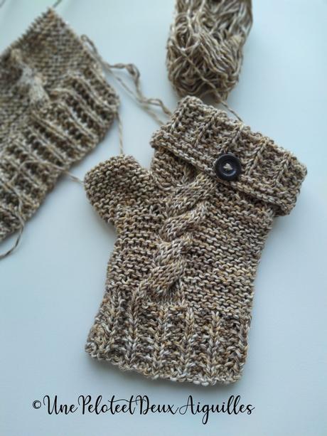 Tricoter des mitaines avec pouce pour adulte