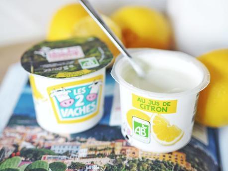 Yaourt Citron Les 2 vaches, cremeux et intense