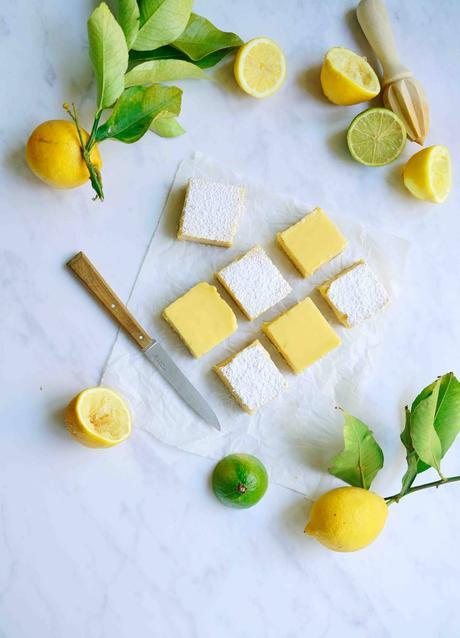 citron vert et citron jaune , lemon square , recette facile