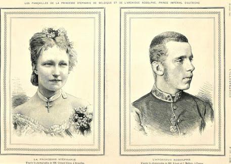Stéphanie de Belgique et Rodolphe de Habsbourg au temps des fiançailles