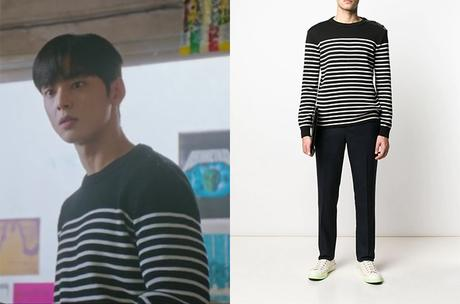 TRUE BEAUTY : Lee Su-Ho's striped sweater in S1E1