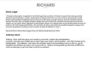 Galerie Richard  « Amicalement Votre » 6 Mars au 18 Avril 2021