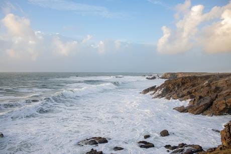 La côte sauvage en hiver