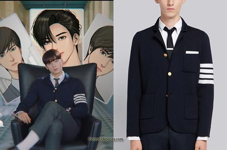 TRUE BEAUTY : Lee Su-Ho's navy sport coat in the opening titles