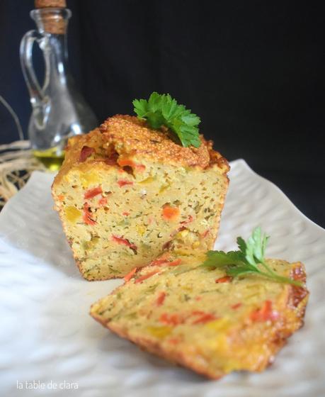 Terrine à la graine de couscous et poivrons