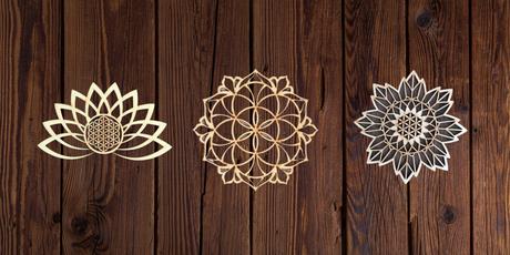 Fleur de vie murale en bois
