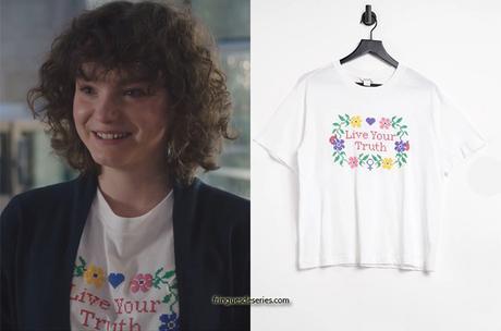 """ICI TOUT COMMENCE : le t-shirt """"Live your truth"""" de Kely dans l'épisode 88"""