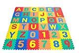 Swonuk 36 Pièces Tapis Mousse Alphabet Tapis de Puzzle pour Enfants 30,5 * 30,5 cm/pcs
