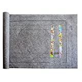 DeeCozy Jigsaw Puzzle Board Tapis de Puzzle Portable pour Le Stockage de Puzzle, jusquà 1500 pièces Accessoire de Puzzle de Stockage, Surface antidérapante, Gray