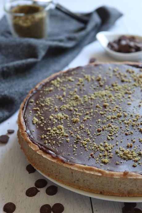 Tarte banane chocolat {sans gluten, sans lait, sans œufs}