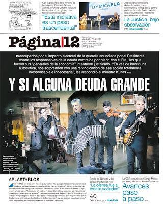 Página/12 se paye la tête deMacri & consorts grâce un classique du tango – Article n° 6500 [Actu]