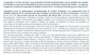 Le Musée de Montmartre «  » Le Paris de Dufy «  » Mars 2021