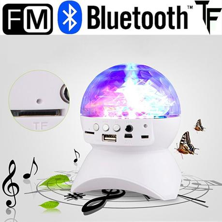 LED RGB Stage Light Effect Disco DJ DMX Lamp Bluetooth Speaker Colorful with MP3 Speaker FM Radio Professional for Party KTV