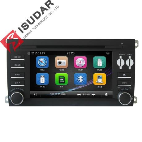 Two Din 7 Inch Car DVD Player For Porsche/Cayenne 2003-2010 With Canbus Radio GPS Navigation Bluetooth 1080P Ipod FM Maps