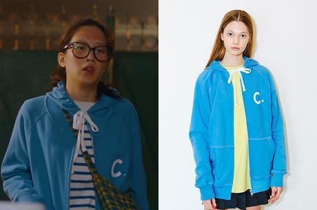 TRUE BEAUTY : Ju-kyung's blue hoody in S1E02