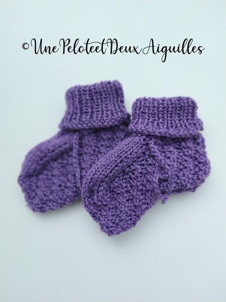 Explications pour tricoter des chaussons bébé (naissance à 3 mois)